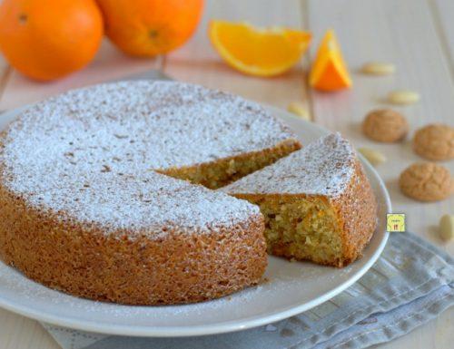 Torta arancia mandorle e amaretti