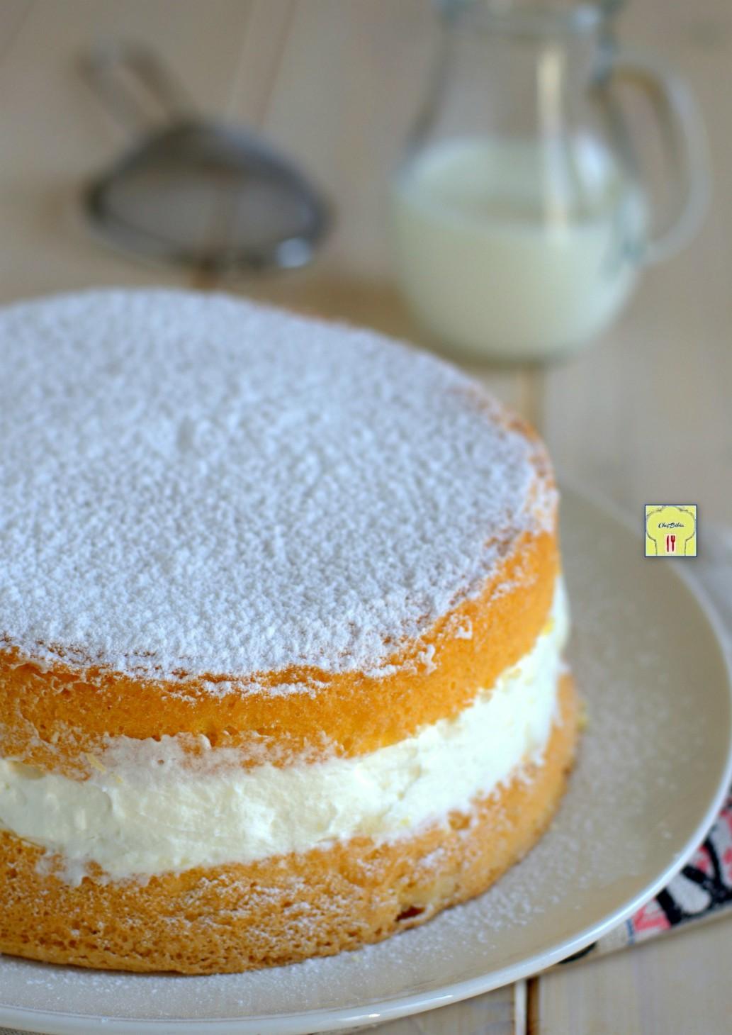 torta soffice con crema al latte gp