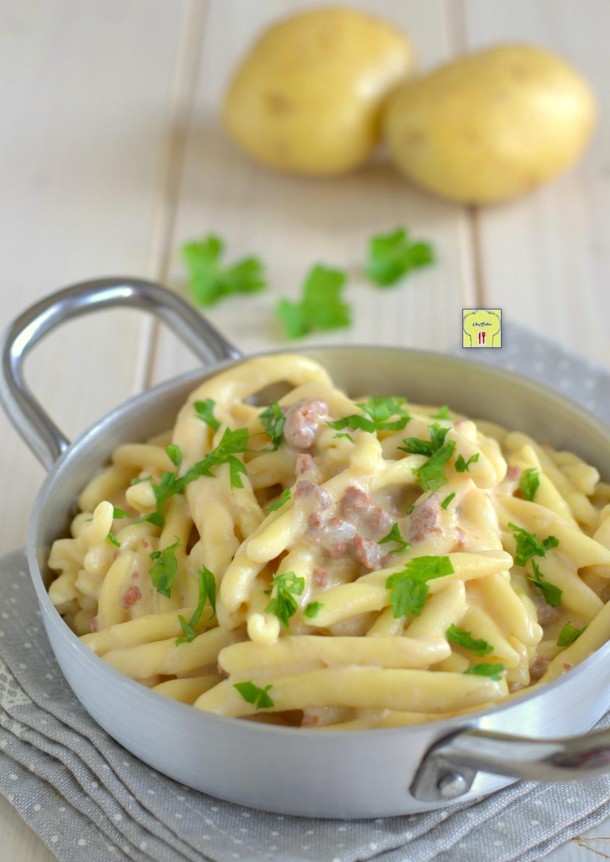 pasta con salsiccia e crema di patate gp