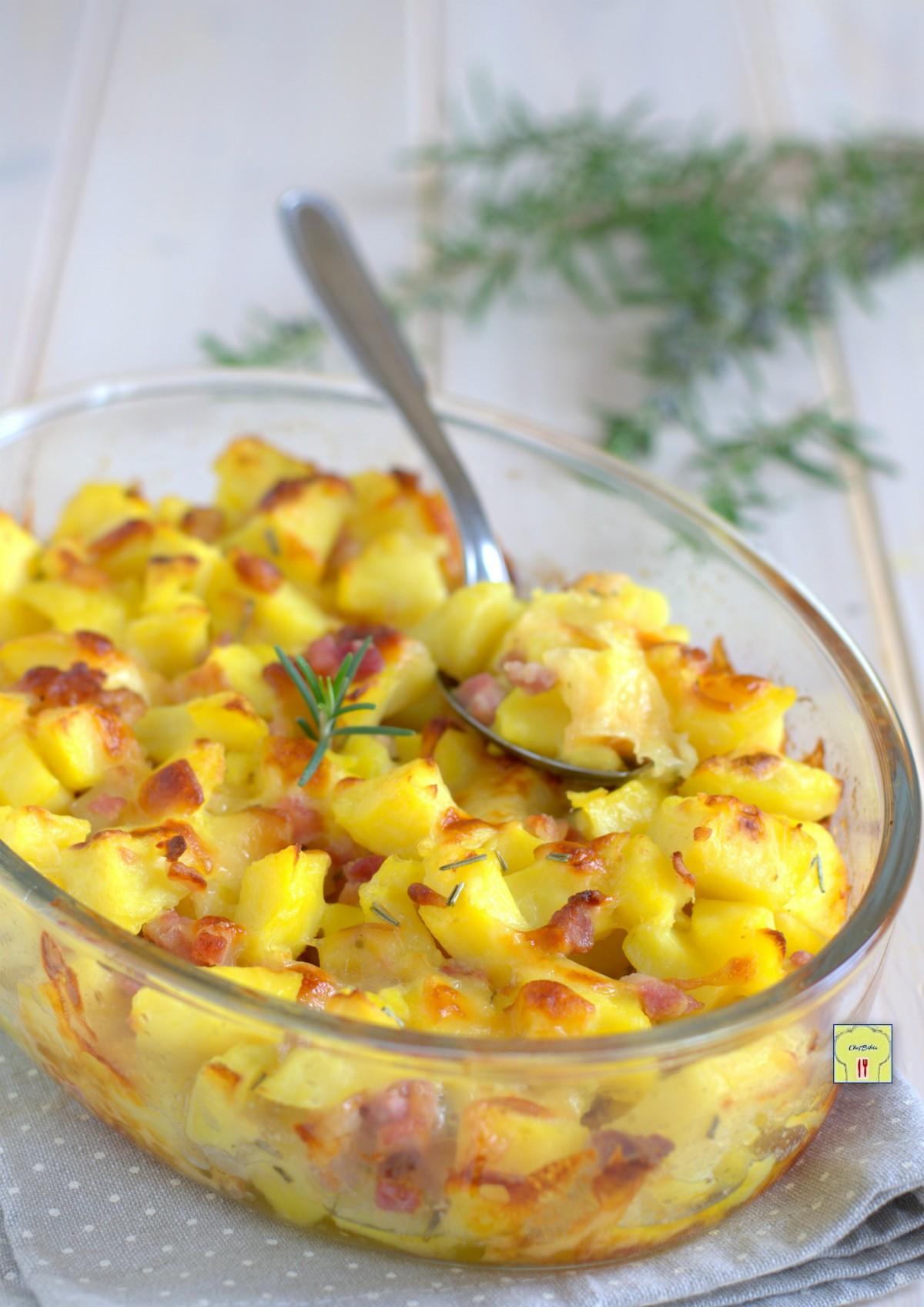 pasticcio di patate pancetta e scamorza gp