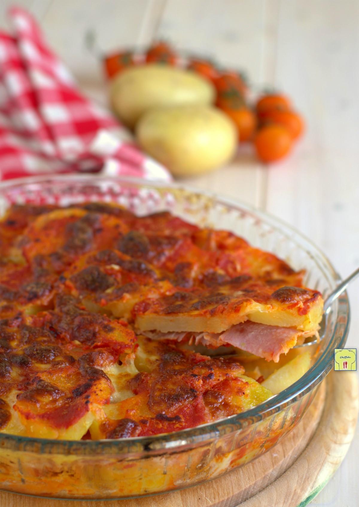 teglia di patate pomodori e speck gp
