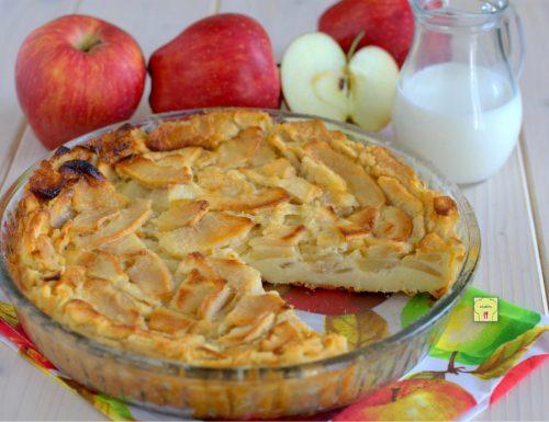 Torta di mele e latte senza lievito