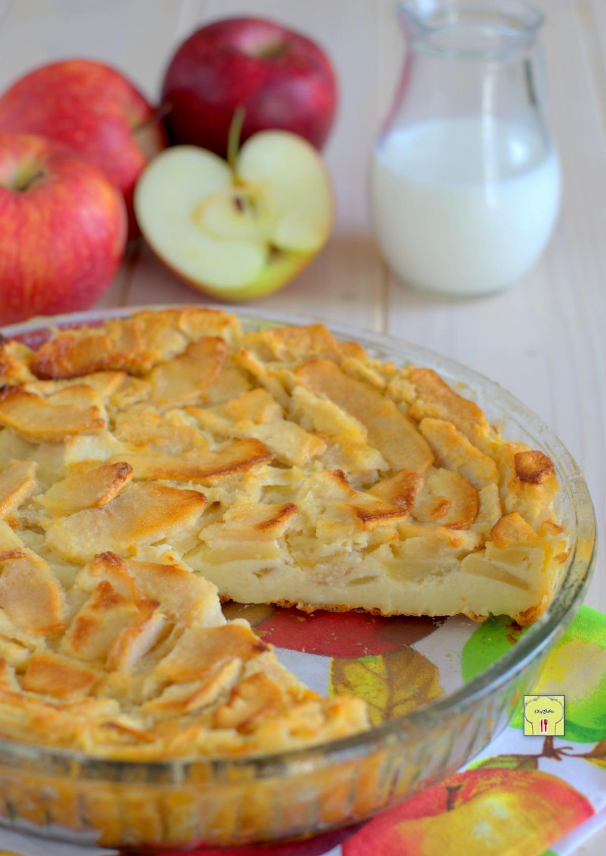 torta di mele e latte senza lievito gp