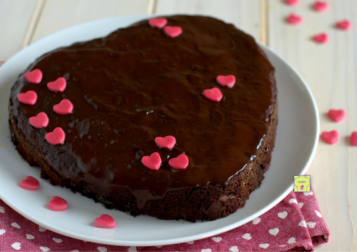 Ricetta Torta Al Cioccolato A Forma Di Cuore.Torta Di San Valentino Al Cioccolato Golosa E Irresistibile