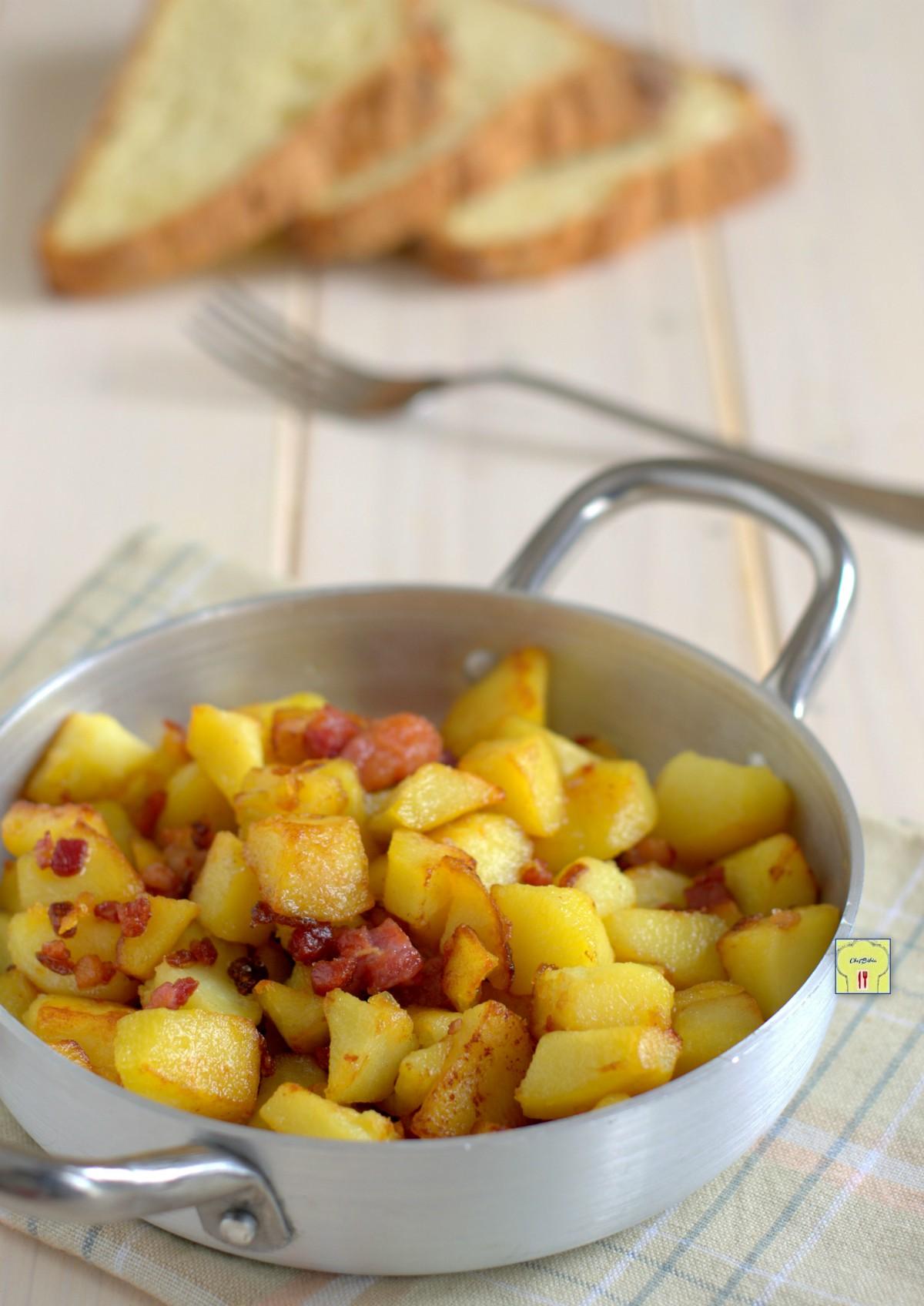 patate e pancetta in padella gp