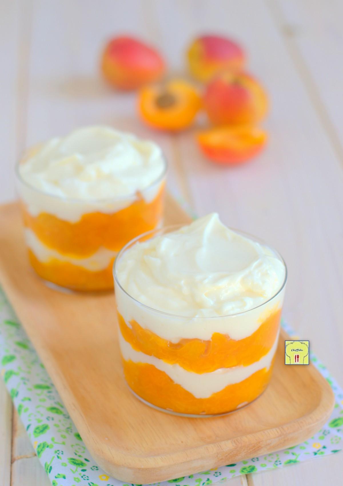 mousse albicocche yogurt e mascarpone gp