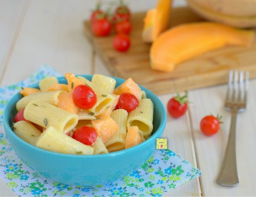 Insalata di pasta melone e pomodorini