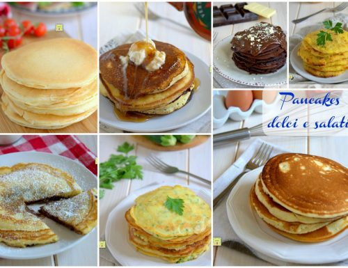 Pancakes dolci e salati