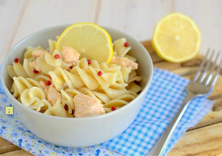 pasta fredda salmone e limone