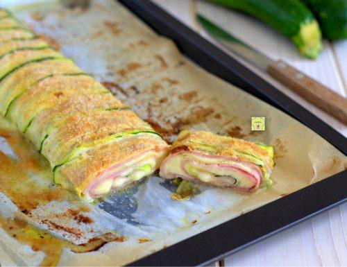 Rotolo di zucchine prosciutto e formaggio