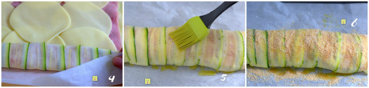 rotolo di zucchine prosciutto e formaggio pp2