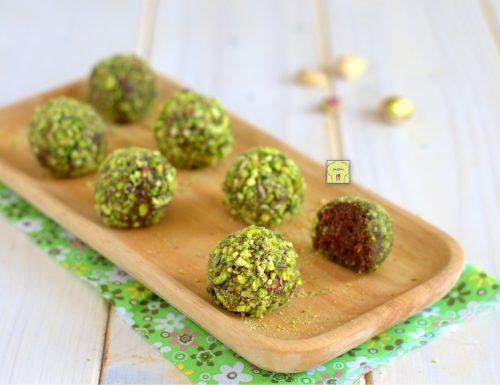 Tartufi cioccolato e pistacchi