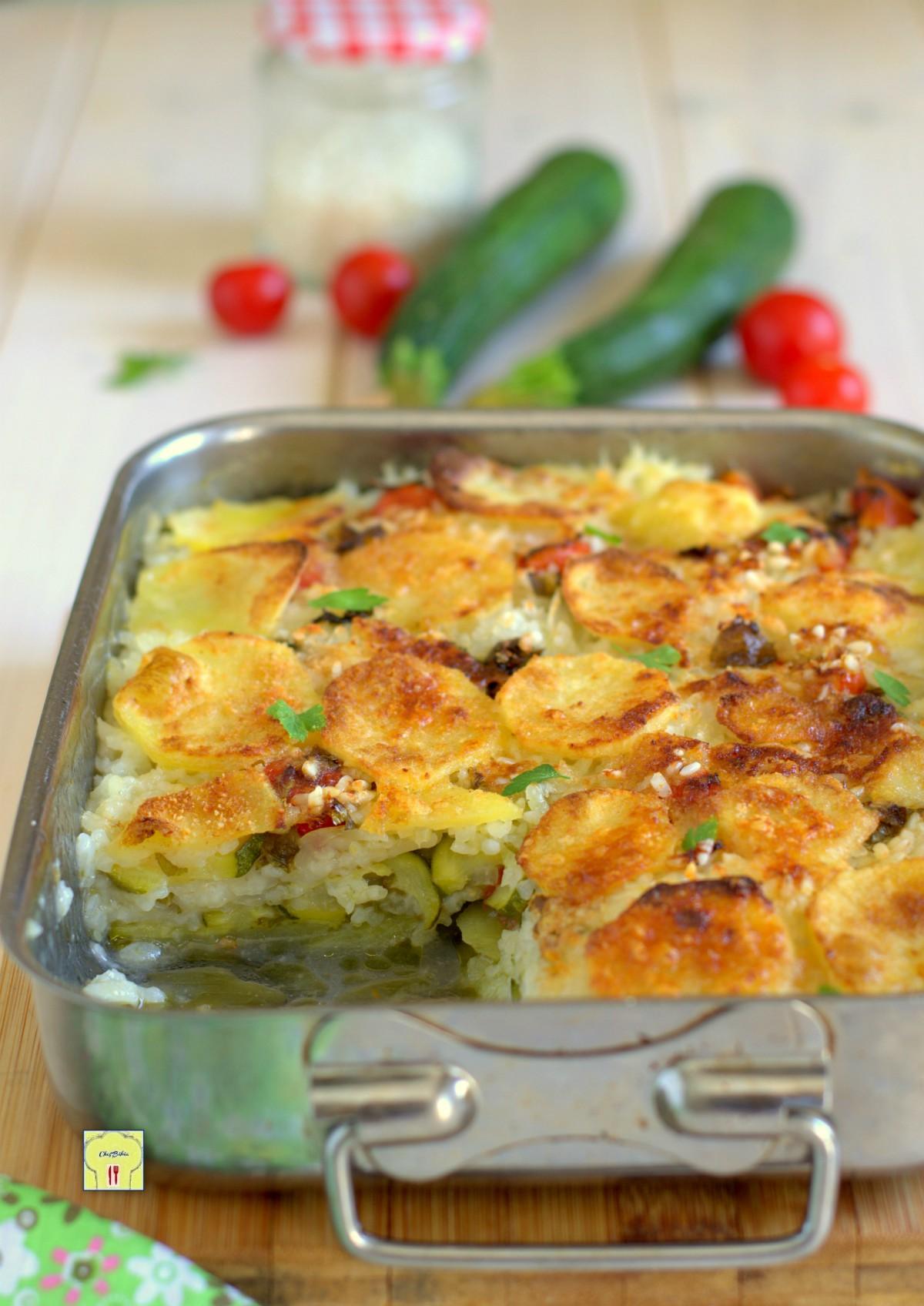 teglia di riso patate e zucchine gp