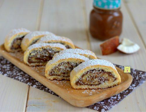 Biscotti arrotolati nutella e cocco