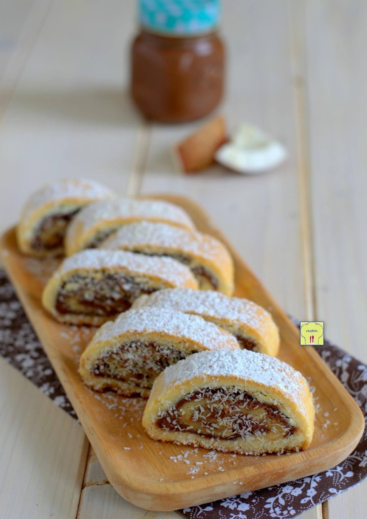 biscotti arrotolati nutella e cocco gp