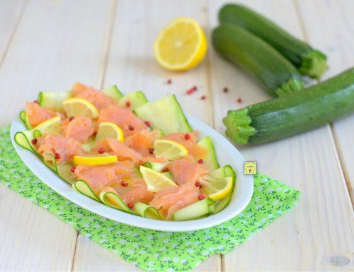 Carpaccio di salmone e zucchine