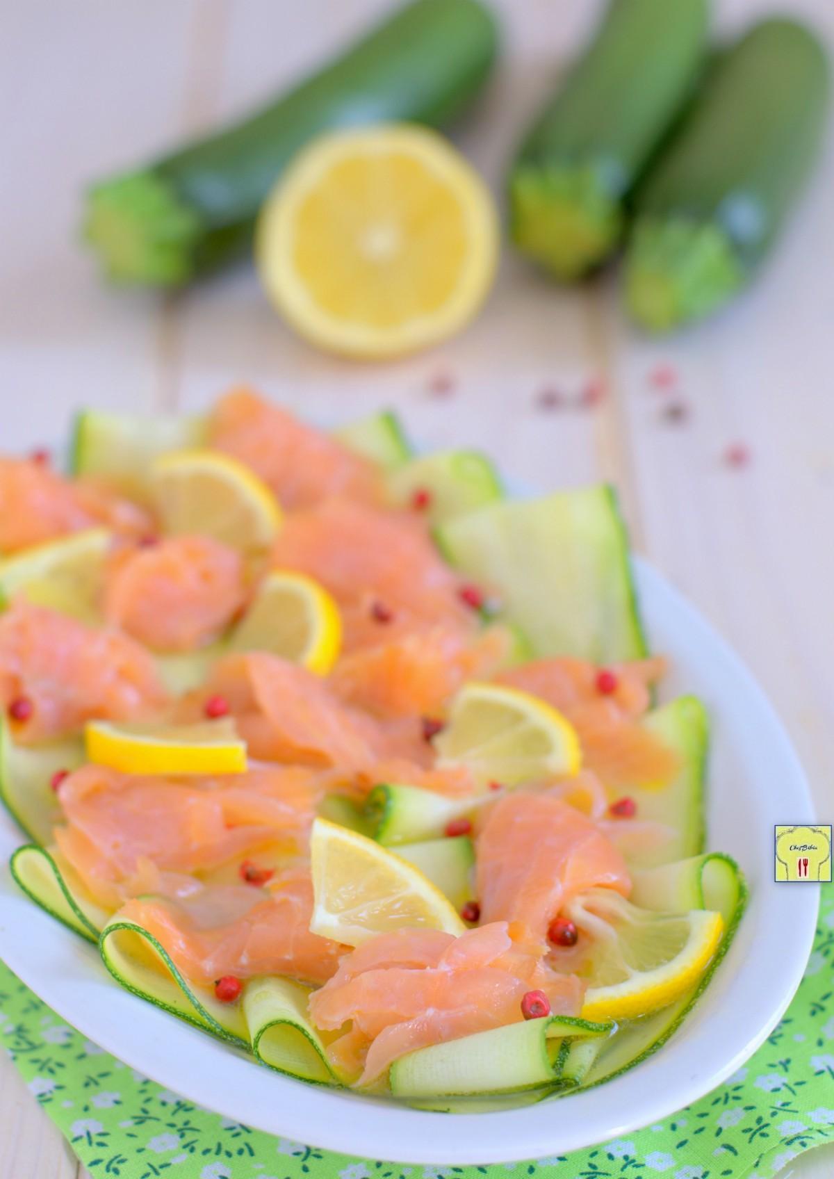 carpaccio di salmone e zucchine gp
