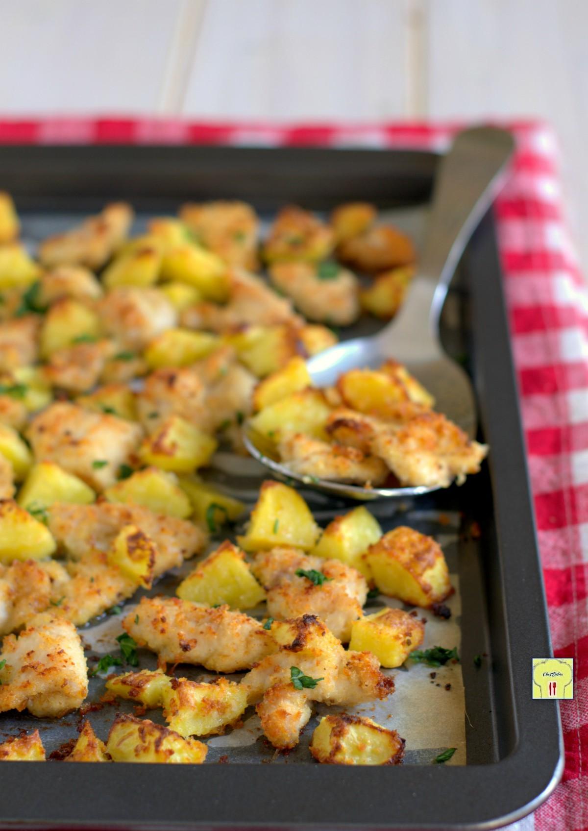 bocconcini di pollo e patate al forno gp