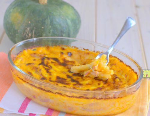 Pasta al forno zucca e speck