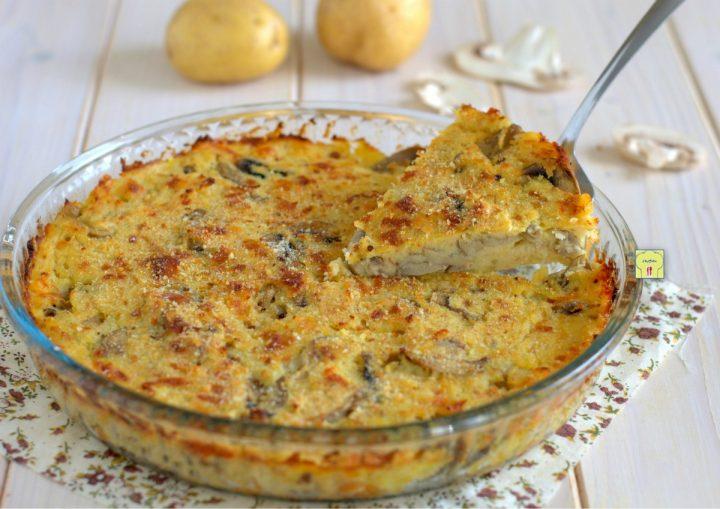 gateau di patate e funghi