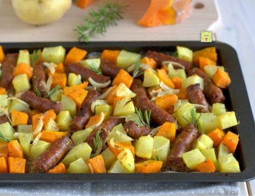 Salsiccia zucca e patate