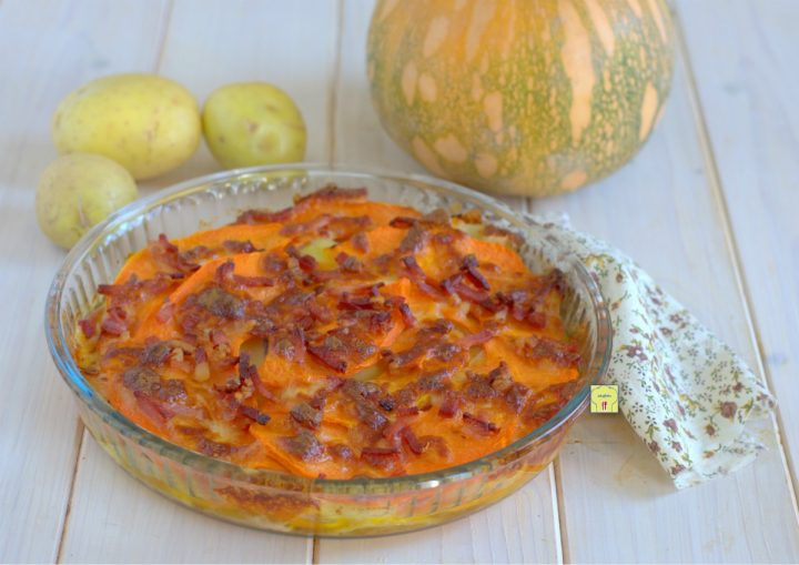 sformato di patate zucca e speck
