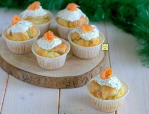 Muffin al salmone affumicato