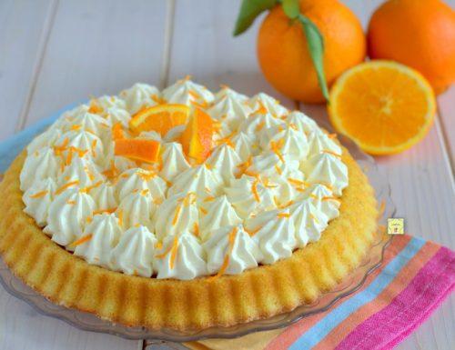 Crostata morbida paradiso all'arancia