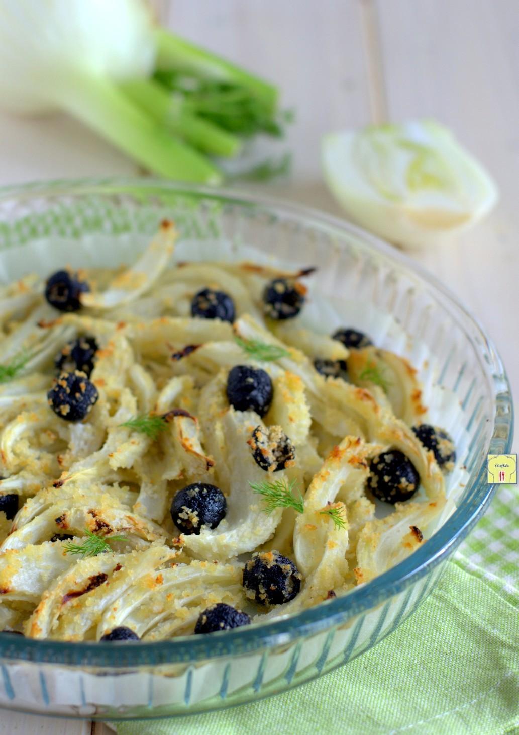 finocchi e olive gratinati al forno gp