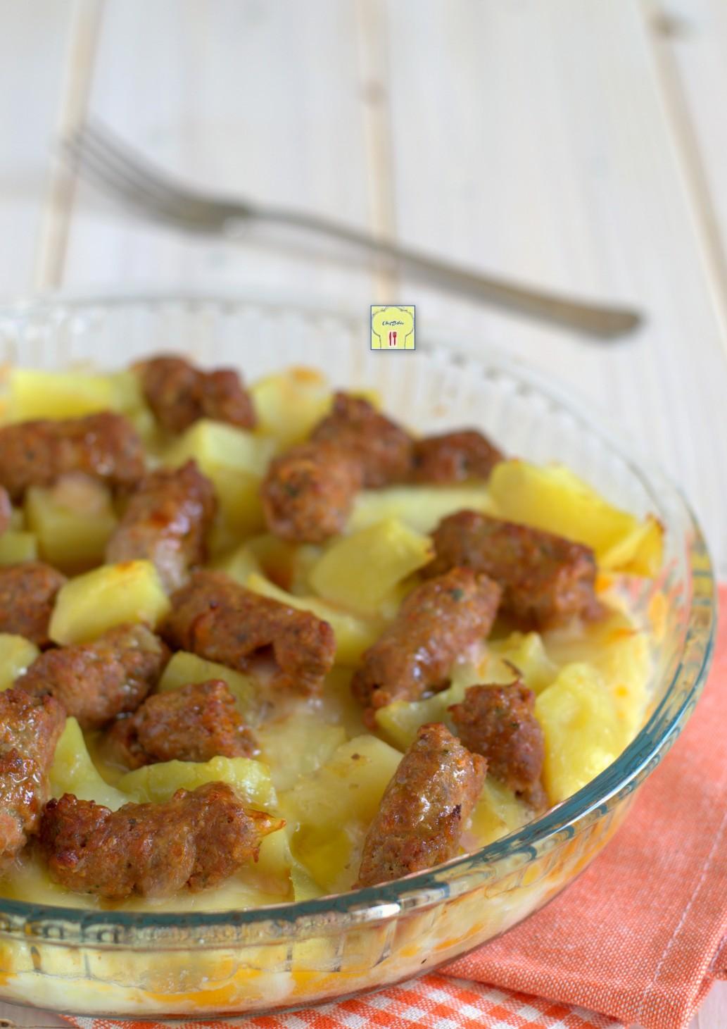 pasticcio di salsiccia patate e mozzarella gp