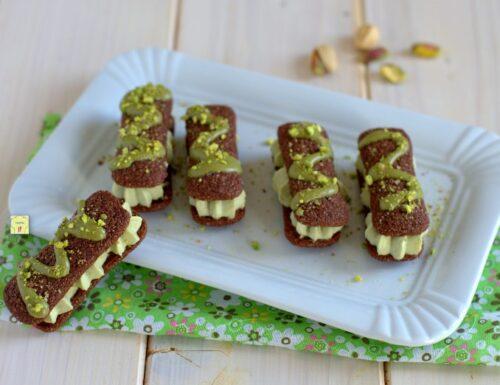 Pavesini al cacao al pistacchio
