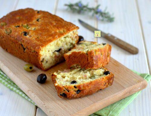 Plumcake prosciutto e olive