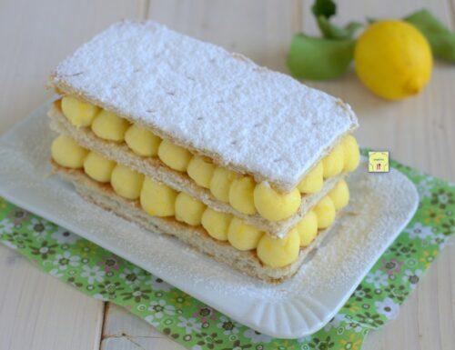 Millefoglie al limone