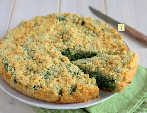 Sbriciolata salata ricotta e spinaci