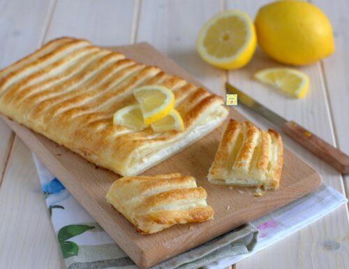 Strudel di sfoglia ricotta e limone