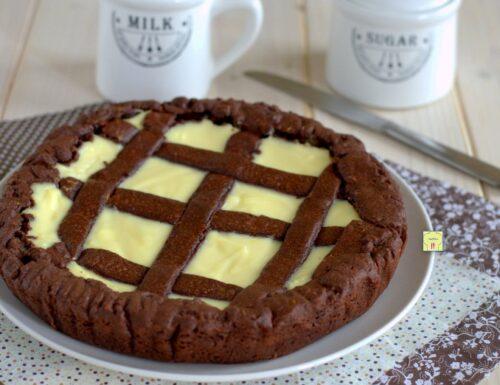 Crostata cioccolato e crema di panna e ricotta