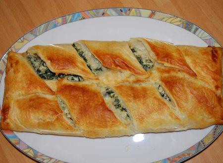 Strudel salato di verdure e ricotta
