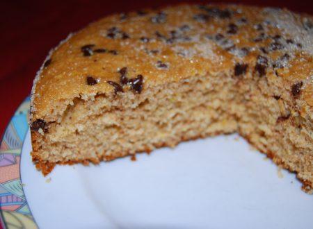 Torta rustica integrale con gocce di cioccolato