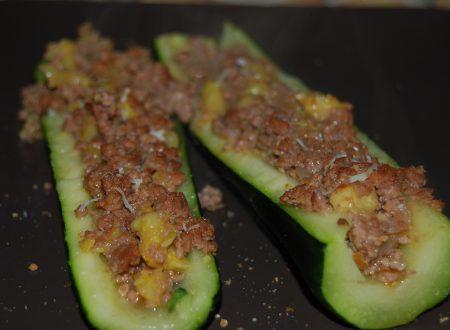 Zucchine ripiene, ricetta light