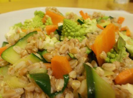 Farro con verdure croccanti