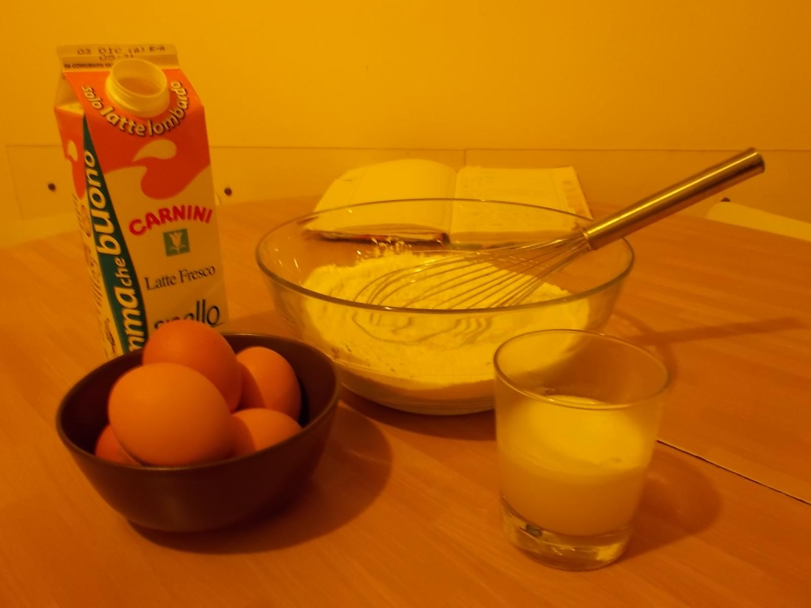 crespelle, ingredienti
