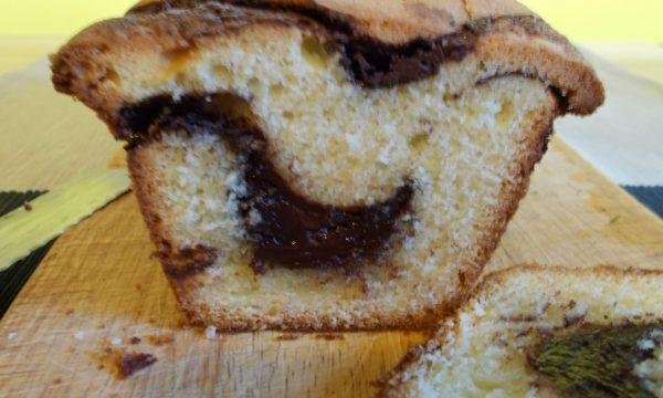 Plumcake con cuore di cioccolato fondente