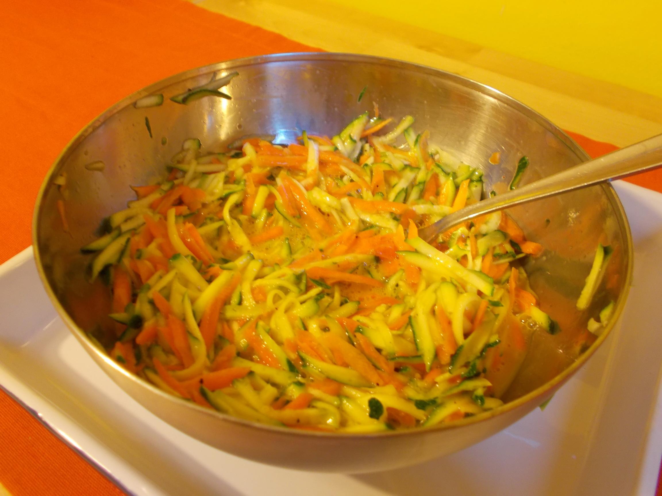 Quiche carote, zucchine e fiocchi di latte