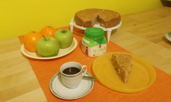 Torta soffice yogurt greco, mela e cannella