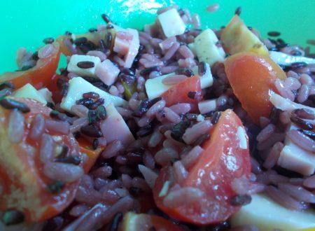 Insalata di riso arlecchina, ricetta light