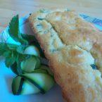 Plum cake salato con zucchine e menta