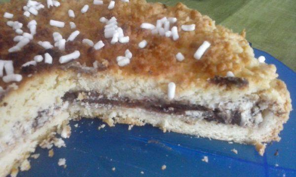 Crostata sbriciolosa ricotta e cioccolato