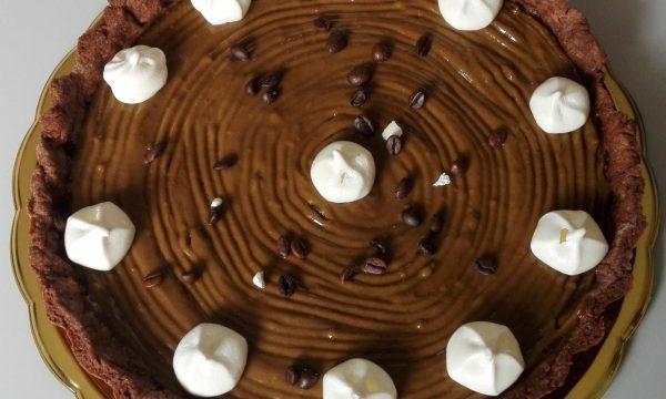 Crostata al cioccolato con crema al caffè