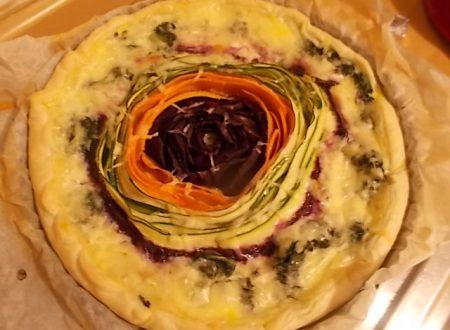 Girandola colorata, torta salata