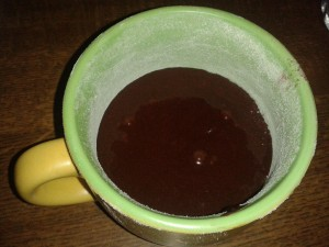 Tortino al cioccolato-microonde